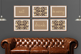Eat, Drink & Be Merry Wall Art
